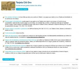 Tarjeta Citi Oro, una opción de crédito