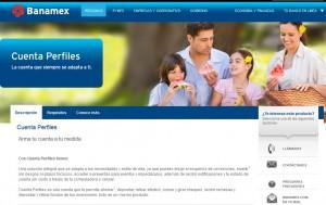 Tarjeta perfiles banamex