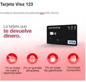 Tarjeta Visa 123