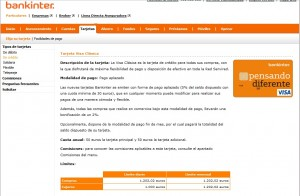 Visa Clásica Bankiner